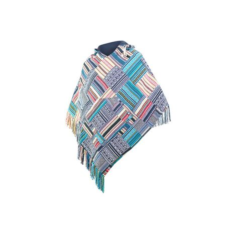 Wendeponcho Abajo Patchwork