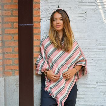 Wendeponcho Relaxed rosa
